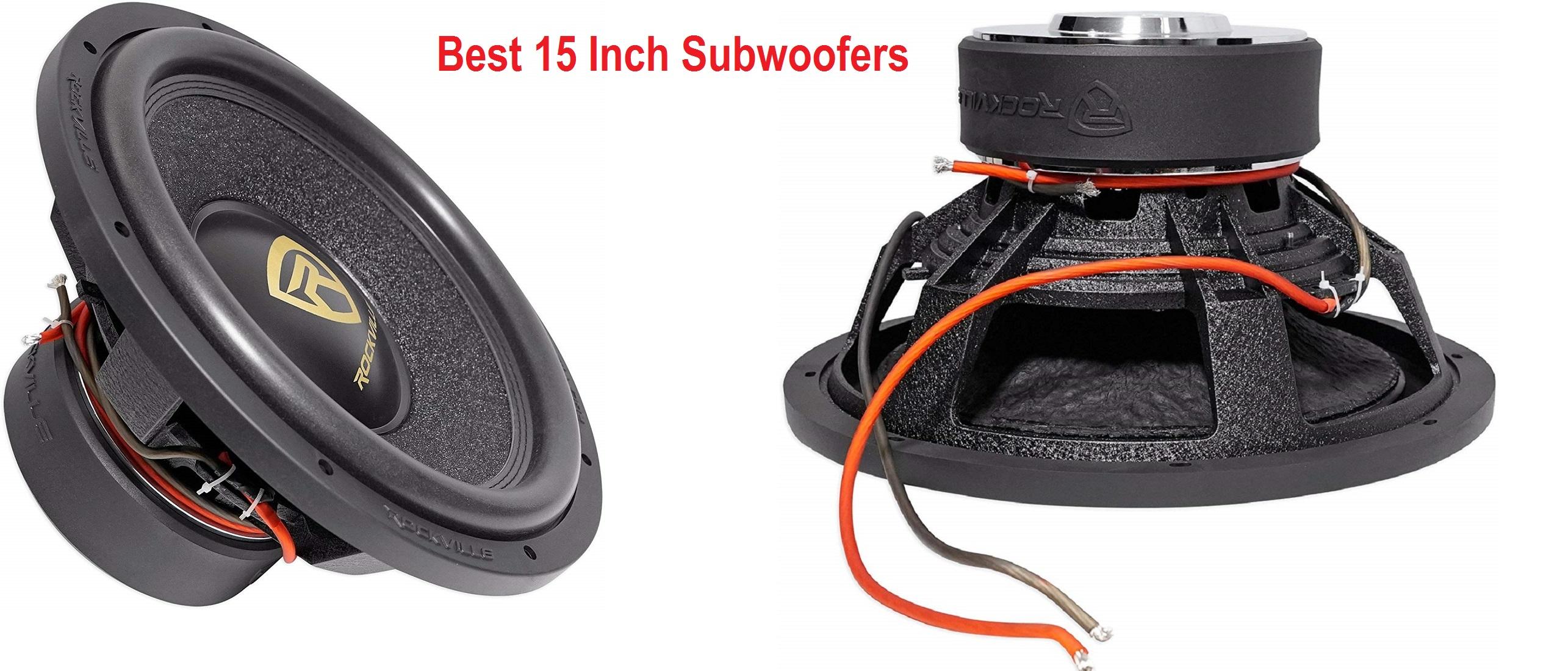 best 15 inch subwoofer